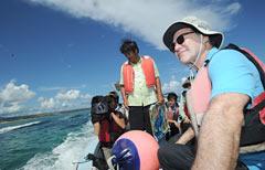 Oliver Stone visits Okinawa