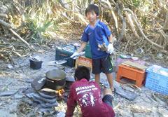Children enjoy survival camp on uninhabited island