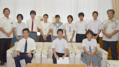 Junior high school students in Urasoe learn about horrors of the atomic bomb