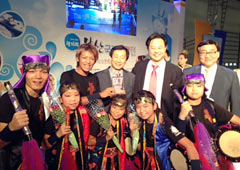 Okinawan drum group wins top award in Busan Travel Fair