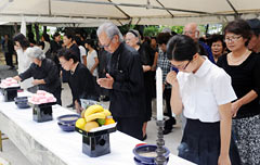 Memorial service held for victims of Tsushima-Maru tragedy