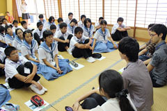 University of Tokyo students teach children in Iheya
