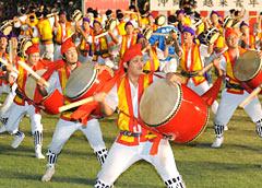 Climax of Okinawa Zento Eisa Festival