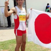 Fukuzato wins silver medal in World Masters Athletics Championships