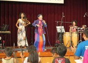 Okinawan latin singer sings in Okinawan dialect
