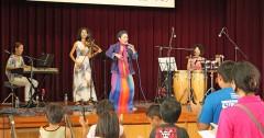 Okinawan latin singer sings in Okinawan dialect