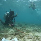 Old Chinese ceramics at bottom of sea