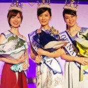 Three winners of Miss Okinawa 2014