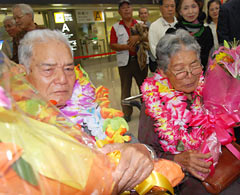 First generation Okinawan Bolivian couple returns to their homeland