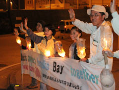 "Ten years of ""Peace Candle"" protests against building new U.S. military base in Henoko"
