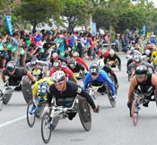 245 people finish the 25th Ginowan Wheelchair Marathon