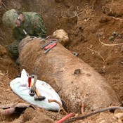 One-ton unexploded ordnance found at Cape Kyan in Itoman