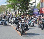 Parade of 300 bikes attracts crowds to Koza Gate 2 Street