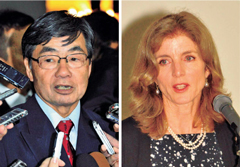 Nago Mayor asks US Ambassador Kennedy to cancel relocation of Futenma base to Henoko