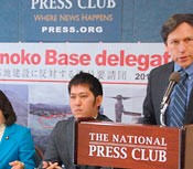 Opposition leader Itokazu visits the U.S. to request cancellation of Henoko landfill