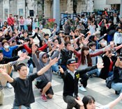 Young people hold flash mob to send message to Ambassador Kennedy