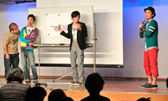Comedy Futenma Theater sparks discussion on redevelopment of US military base site