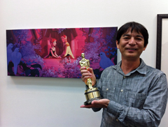 Okinawan among artists to win Oscar for animated film Frozen