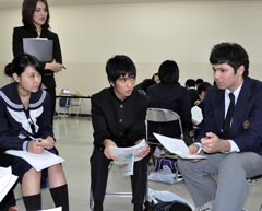 Okinawan High School students discuss peace in different cultures