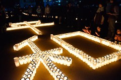 Peaceful Candle Night held to pray for Great East Japan Earthquake restoration and peace