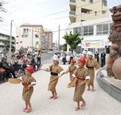 <em>Shisa</em> Day event at Tsuboya