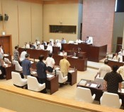 Kadena Town Assembly unanimously passes a resolution to protest against accidents involving U.S. military aircraft