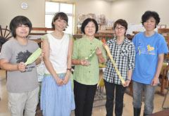 Designer Ishibashi working to promote Okinawan traditional <em>Uji</em>-dyeing