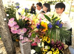 Memorial held for 55th anniversary of U.S. military jet crash into Miyamori Elementary School