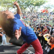 Okinawan rock music event Peaceful Love Rock Festival 2014 held