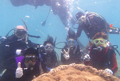 Participants enjoy barrier-free diving in Okinawa