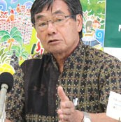Nago mayor criticizes government for starting demolition work to build new air base