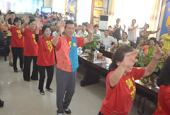 Okinawa Yui Dance Promotion Council visits Mazhuancun in China