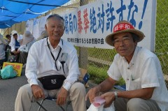 Volunteer group from Hokkaido takes part in Henoko sit-in protest