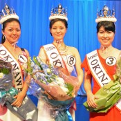 Three winners of Miss Okinawa 2015