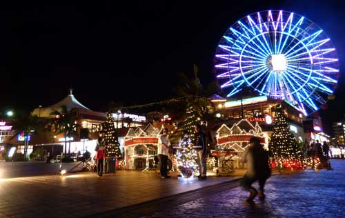 Illumination at American Village in Chatan