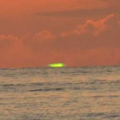 Amateur photographer captures green sun from Senagajima