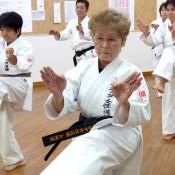 75-year-old Okinawan woman attains a Karate black belt