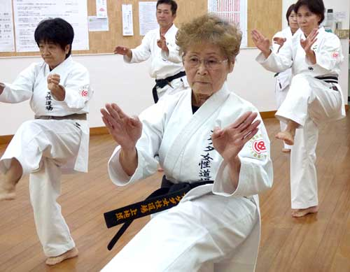 75-year-old Okinawan woman attains a Karate black belt