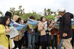 Korean, Chinese students visit Henoko