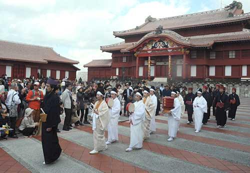 Ryukyuan ritual <em>Momoso-omono-mairi</em> reenacted in Shuri Castle Park