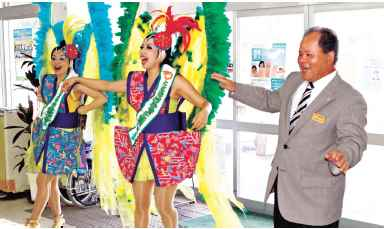Samba duo Miyagi sisters become tourism ambassadors for Ogimi Village