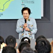 Former Himeyuri student delivers final lecture at museum