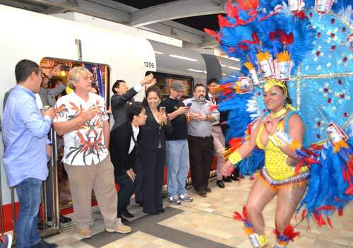 Multinational party held in monorail attracts 130 people
