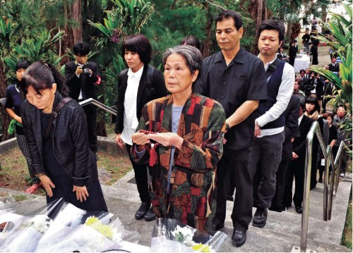 Villagers hold memorial service on Zamami Island marking 70 years since forced mass suicide