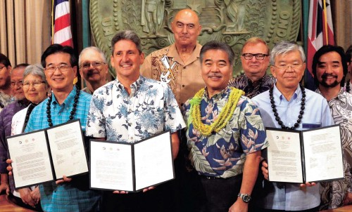 Universities in Okinawa and Hawaii agree partnership