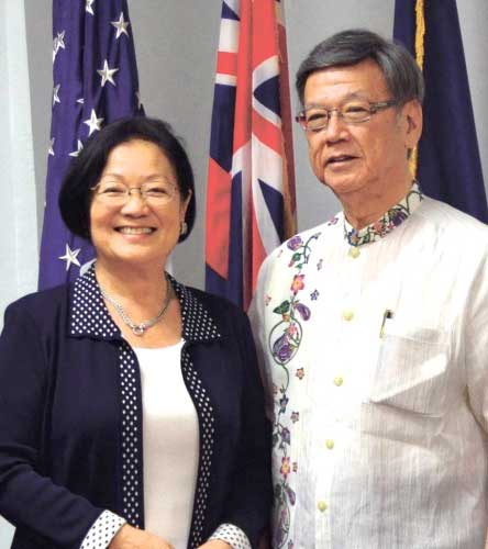 Gov. Onaga seeks U.S senators' and representative's support to block new base