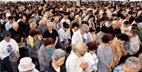 People renew their commitment to create peace on 70th anniversary of Battle of Okinawa