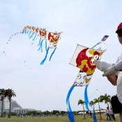 300 participants enjoy annual kite festival in Ishigaki