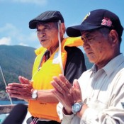 Peace prayers for Tsushima Maru Victims at Memorial Service on the Ocean