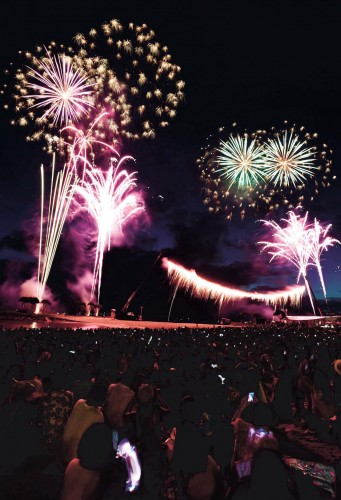 Showcase of 10,000 fireworks at Ocean Expo Park